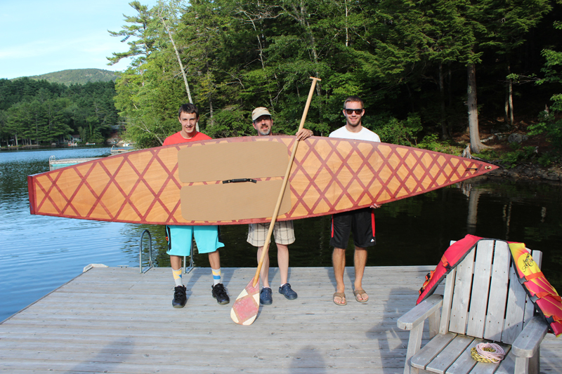 From Left Colin, Allen, and Ian Kay with their new Kaholo.