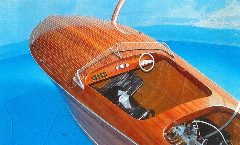 Deck, windshield, and engine compartment of SAUNDRA MAE