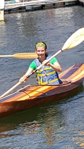 Linnea in the water.