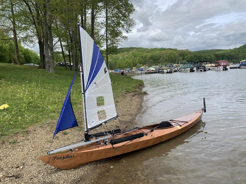Purjekas sailing kayak
