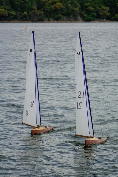 The boats under sail