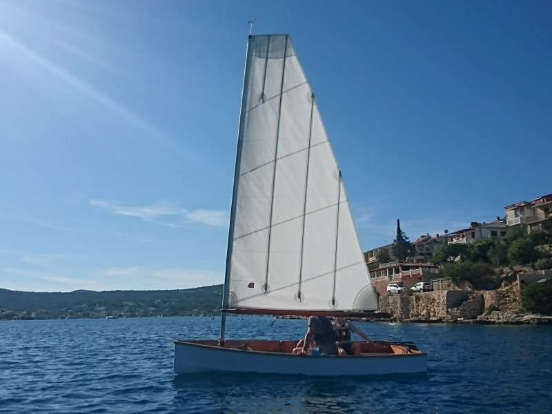 Mebo 12 sailing in Adriatic Sea, Croatia