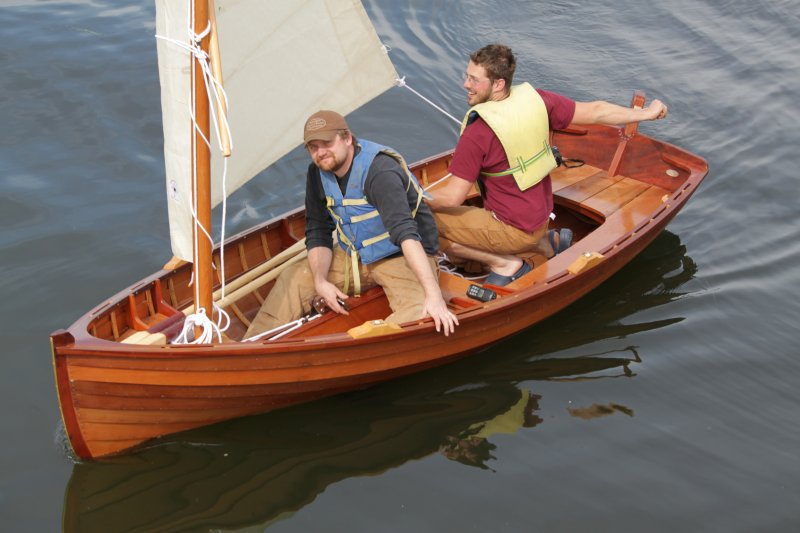 The 13' Sid skiff under sail at Port Hadlock, Washington