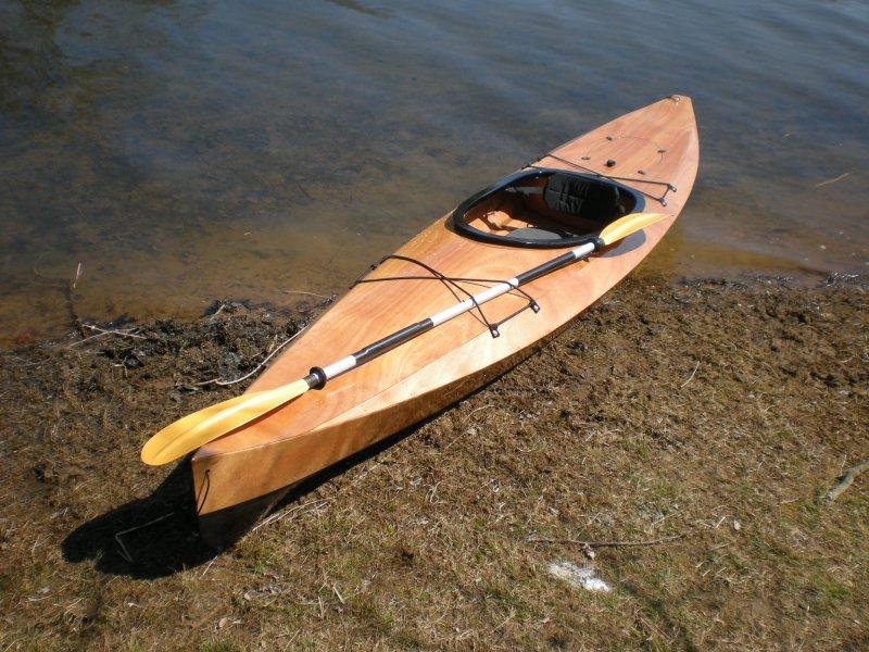 The Wood Duck 12 kayak on a Maryland beach