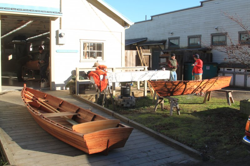 Scandal Skiff at the Northwest School of Wooden Boat Building