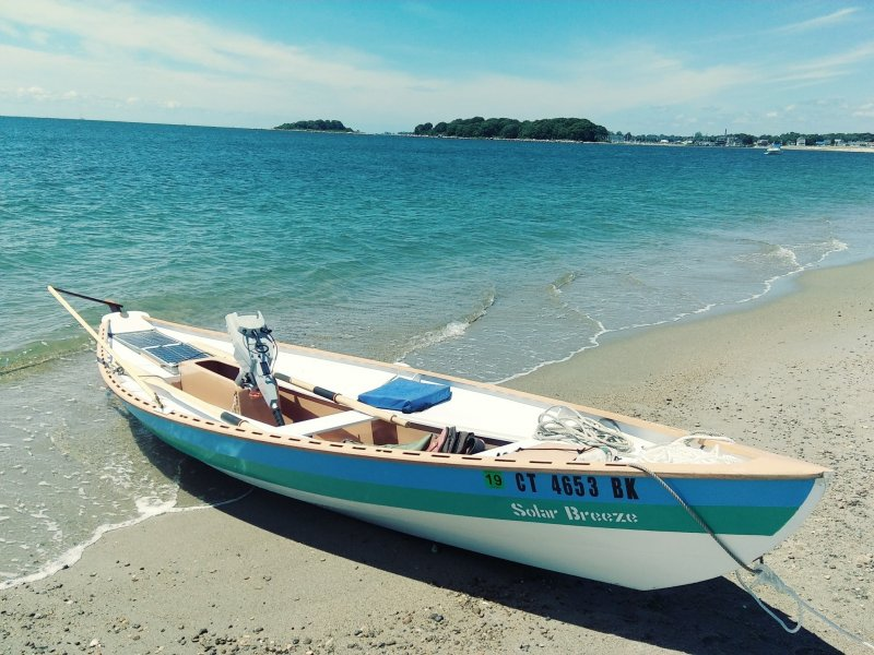 Solar powered electric dory