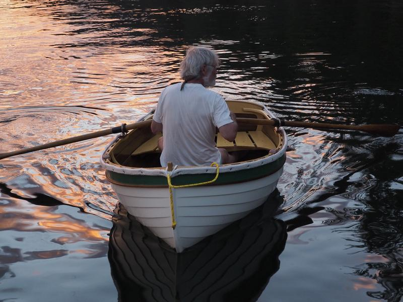 Out rowing at sunset