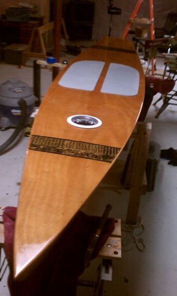 Paddleboard from bow
