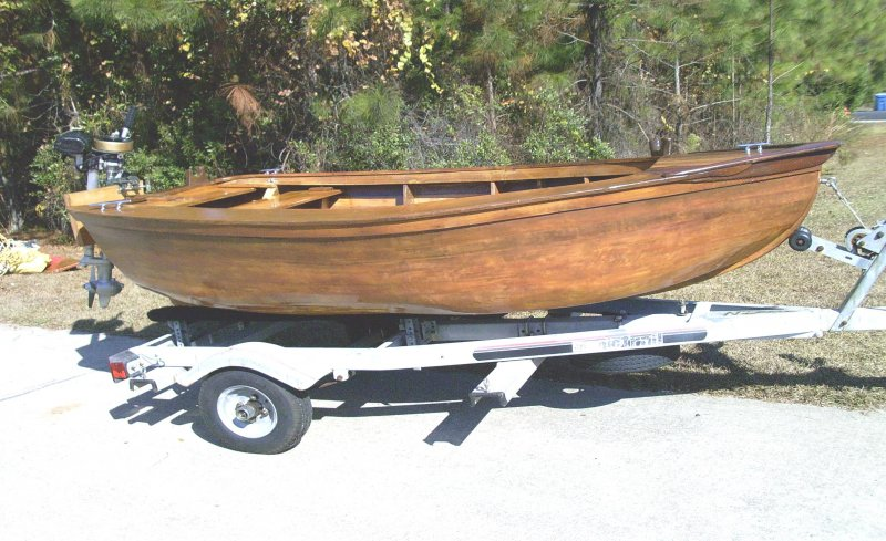 Dinghy on trailer.