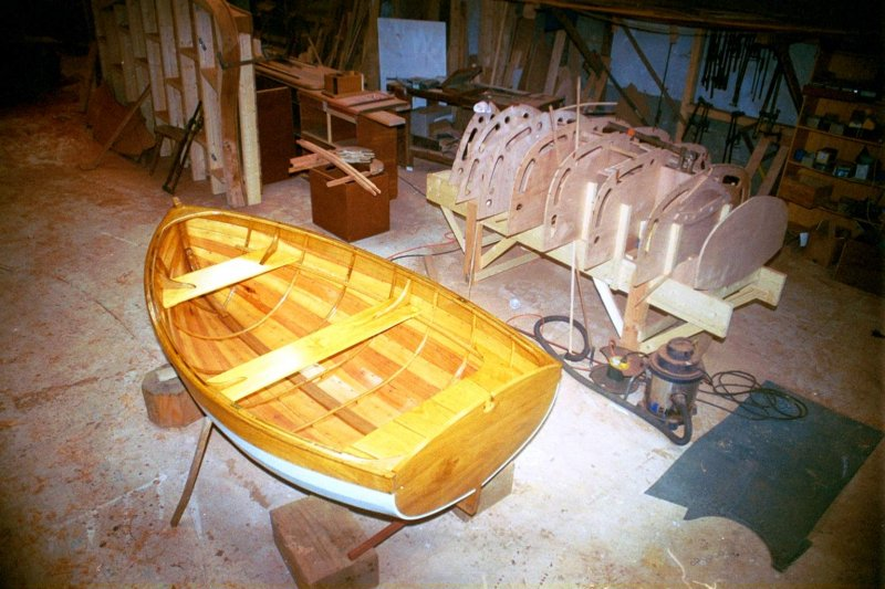 Traditional lapstrake (rowing version) Acorn tender.