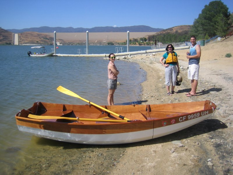 Passagemaker dinghy with oars.
