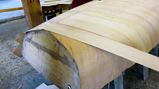 The second layer is a firmer wood
