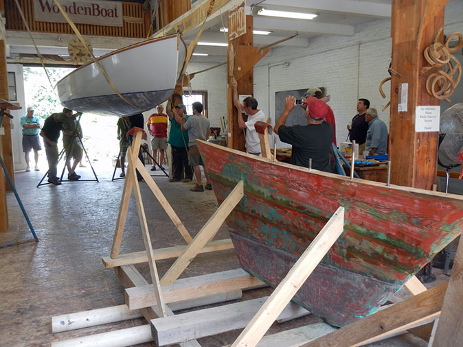 Re-attaching the keel