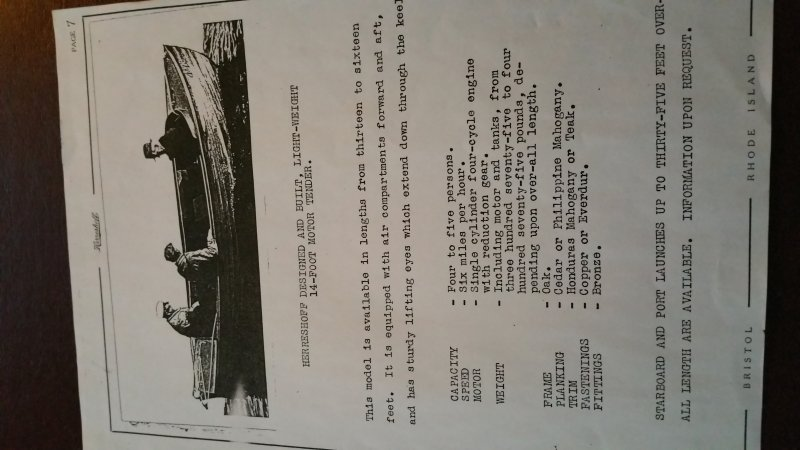 Motor Tender description