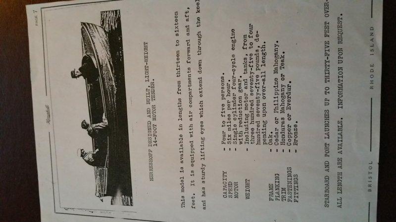 Motor Tender description