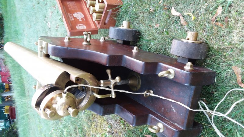 Antique bronze yachting salute cannon by Strong