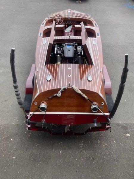 2002 Mahogany Runabout Boat and Trailer