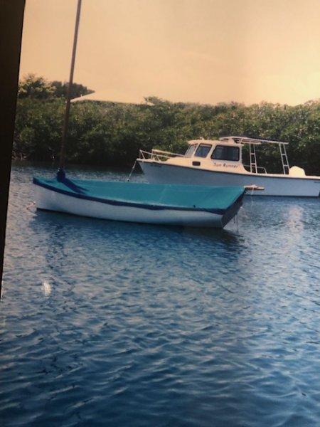 Bahamian Hand built sailing Dingy