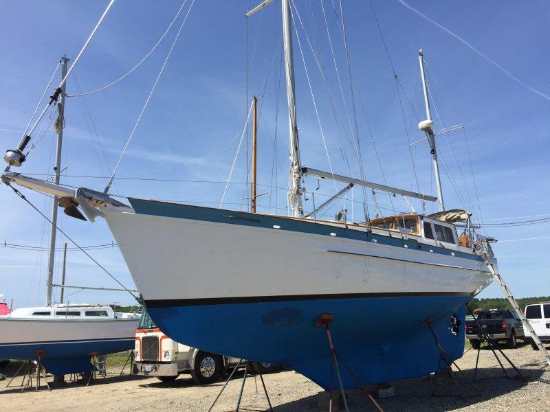 1986 custom built Covey Island 38' Pilothouse Yawl
