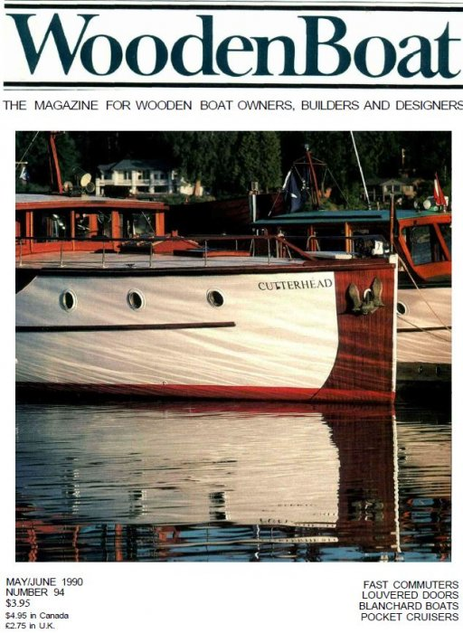 CUTTERHEAD. WoodenBoat magazine #94 cover photo by Neil Rabinowitz.