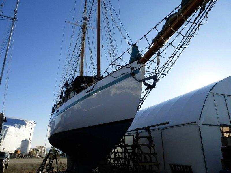 DIRIGO II at Haven Boatworks, LLC, 10.18.13. Photo by Luane Hanson.