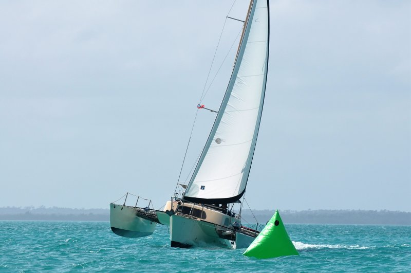 SCRIMSHAW, a James W. Brown Searunner 31 trimaran. Photo: Will Heyer.