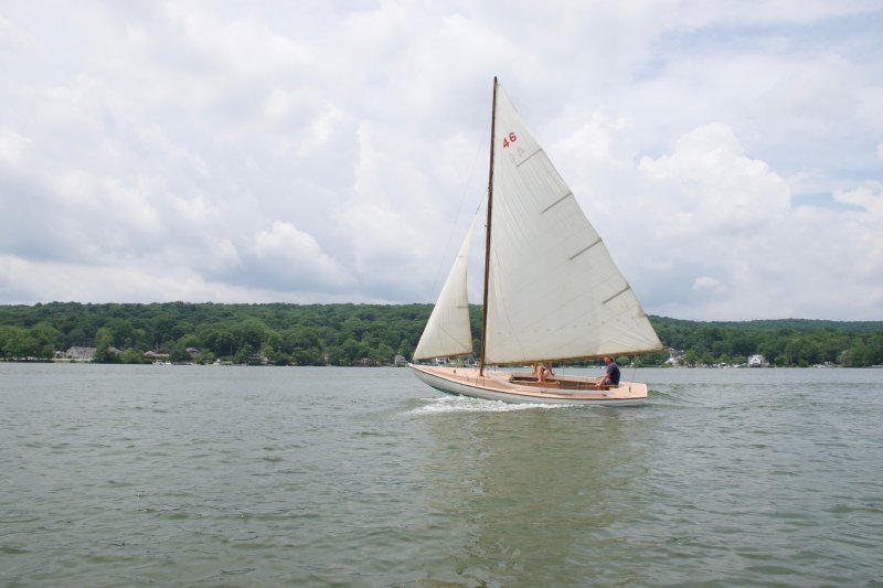 INDIAN SUMMER, Mass. Bay Indian class sloop.