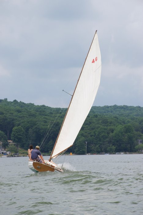 INDIAN SUMMER, Mass. Bay Indian class sloop, built by Willis J. Reid.