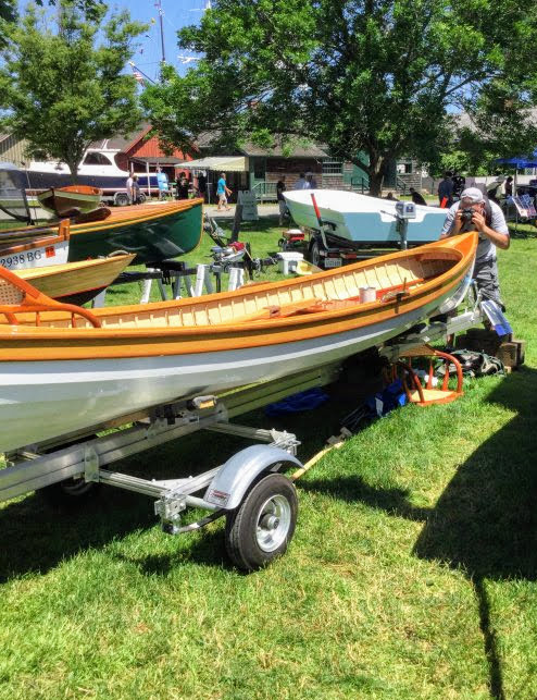 ELIZABETH on display at the WoodenBoat Show in Mystic, CT.