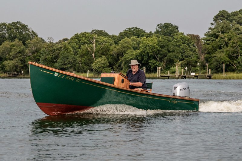 EVELYN is a modified Jericho Bay Lobster Skiff. Photo: Jim Zinn