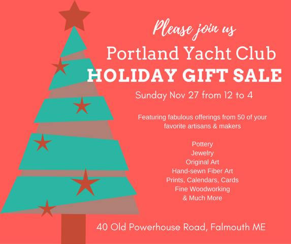 Holiday gift sale at portland maine yacht club for Holiday craft fairs portland oregon