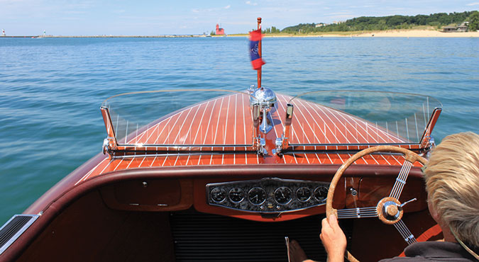 Photos courtesy of The Wooden Runabout Company, Holland, Michigan