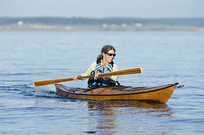 Selkie Kayak Kit, Pygmy Boats, Wooden Kayak kit for petite paddlers.