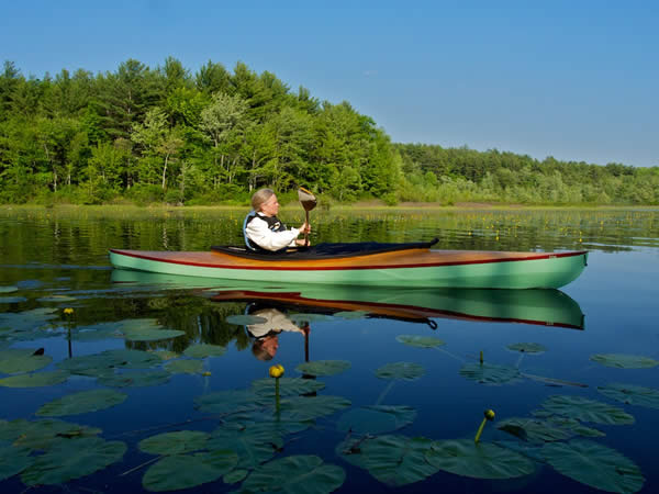 Fox is a decked double paddle canoe.