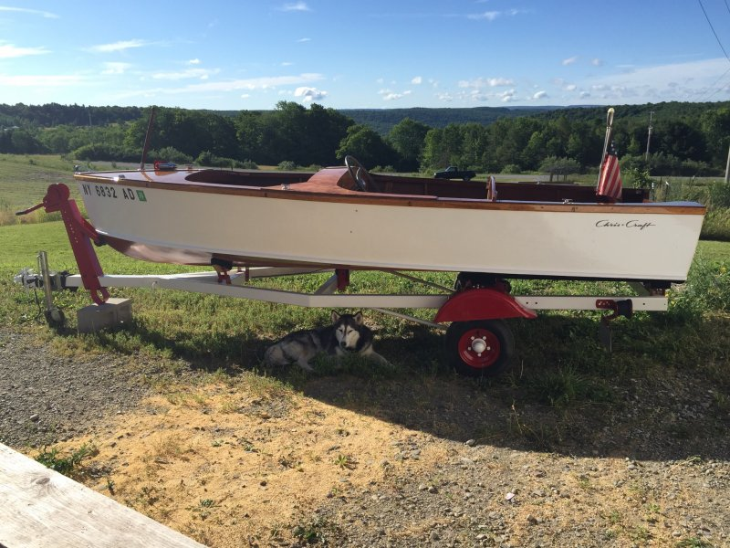HARRY B., Chris-Craft kit boat.