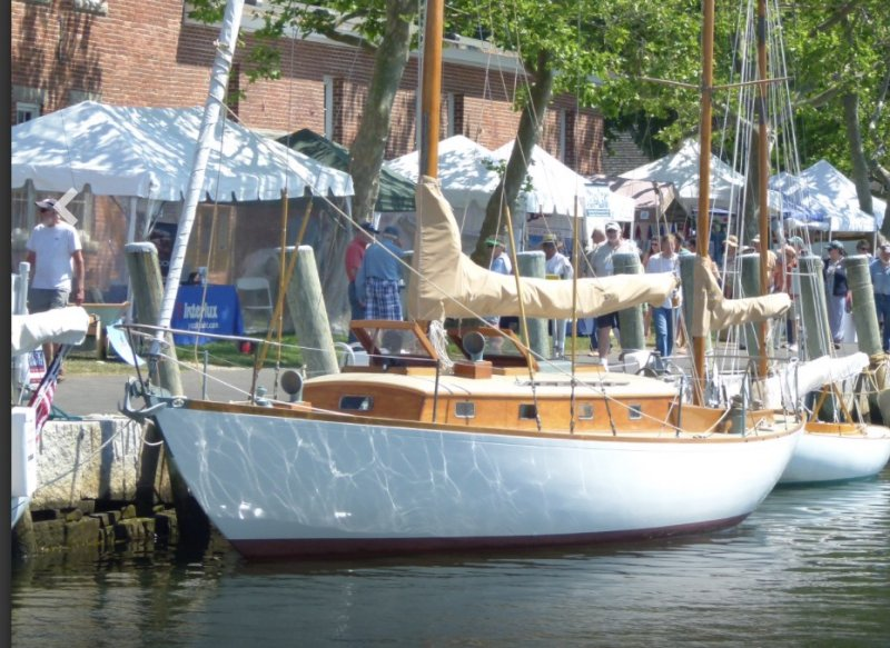 MEIGA DEL MAR, Nevins 40/Series A, at the WoodenBoat Show, 2016.