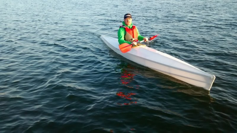 Kajoo Sport skin on frame kayak.