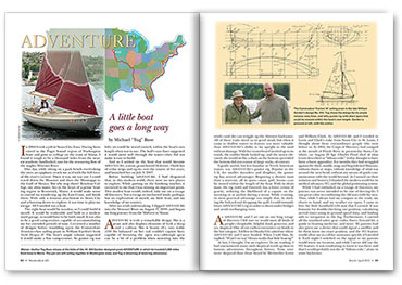 Article spread from WoodenBoat magazine