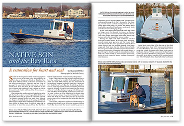 Native Son article spread from WoodenBoat magazine