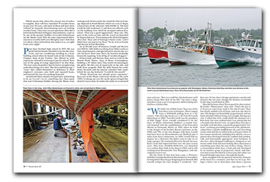 Magazine spread from article in WoodenBoat magazine