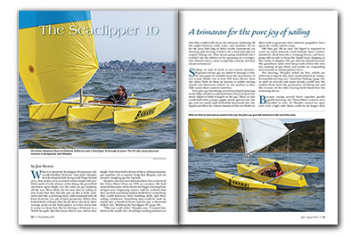 Magazine spread of article about th Seaclipper 10