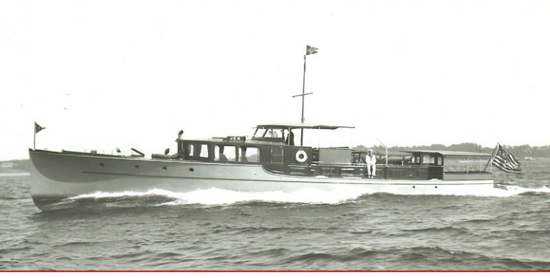 JUSTICE was launched as commuter yacht JEM, 1930.