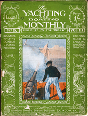 Cover of July 1907 The Yachting and Boating Monthly