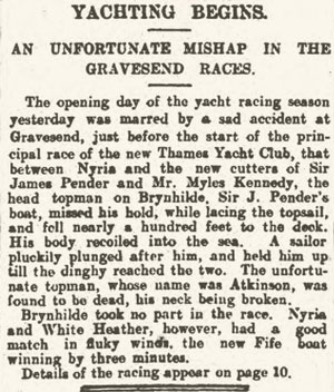 Clipping from the London Standard May 23, 1907, pg 7