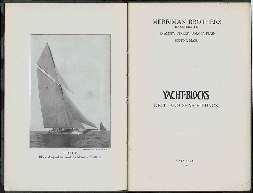 Pages from the Merriman Brothers catalog.