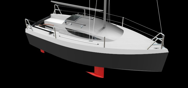 Three quater view of 600 Lion Yacht.
