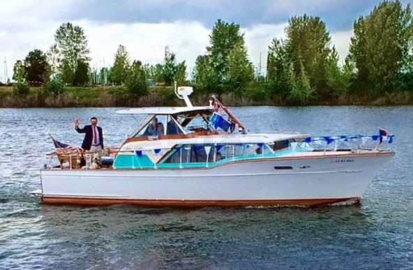 "LOUIE, 36'10"" Chris-Craft Constellation."