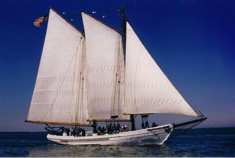 A.J. MEERWALD, restored oyster dredging schooner.