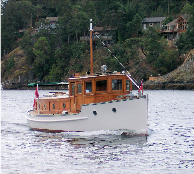 MERVA, 40' pilothouse cruiser, built by F. W. Morriss. Photo: CYA.