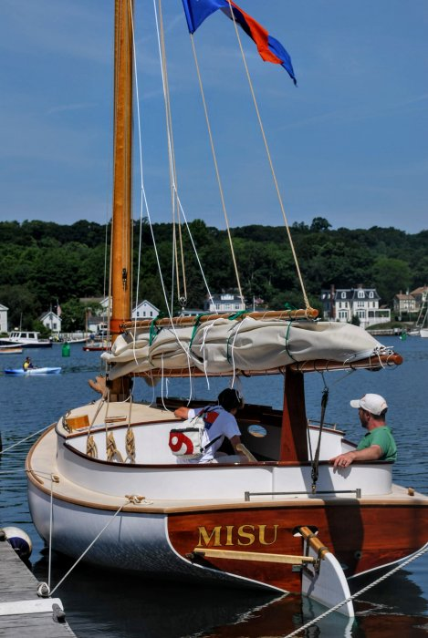 MISU at the 2014 WoodenBoat Show. Photo by Laura Sherman.